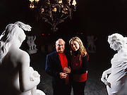 Italian restaurant owner Gianni Paoletti and his wife in the caves of Paoletti Estates Winery. Napa Valley, California. The restaurant he owns is called Peppone and is located in West Los Angeles. MODEL RELEASED.
