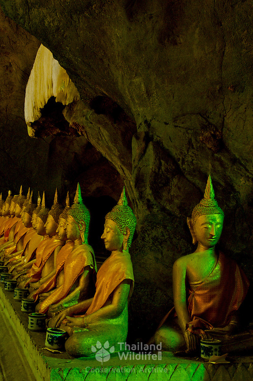 Buddhas at Khao Luang Cave This picturesque cave, some 5 kilometers from Khao Wang, in Phetachaburi province, contains a Buddha image cast by the royal command of King Chulalongkorn to honour his father, King Mongkut.