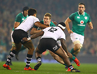 Rugby Union - 2017 Guinness Series (Autumn Internationals) - Ireland vs. Fiji<br /> <br /> Chris Farrell (Ireland) in action against Ben Volavola (Fiji) and Levani Botia (Fiji), at the Aviva Stadium.<br /> <br /> COLORSPORT/KEN SUTTON