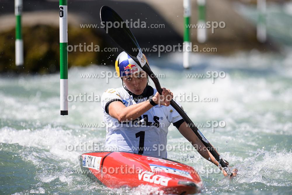 Jessica FOX of Australia during the Canoe Single (WK1) Womens Semi Final race of 2019 ICF Canoe Slalom World Cup 4, on June 28, 2019 in Tacen, Ljubljana, Slovenia. Photo by Sasa Pahic Szabo / Sportida