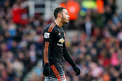 Memphis Depay of Manchester United looks frustrated - Mandatory byline: Rogan Thomson/JMP - 26/12/2015 - FOOTBALL - Britannia Stadium - Stoke, England - Stoke City v Manchester United - Barclays Premier League - Boxing Day Fixture.