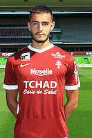 Vahid Selimovic poses for a portrait during the Metz squad photo call for the 2016-2017 Ligue 1 season on September 15, 2016 in Metz, France<br /> Photo : Fred Marvaux / Icon Sport