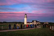 Sunrise location shoot in a travel photography workshop, Highland Lighthouse, Truro, Cape Cod, Massachusetts, USA.