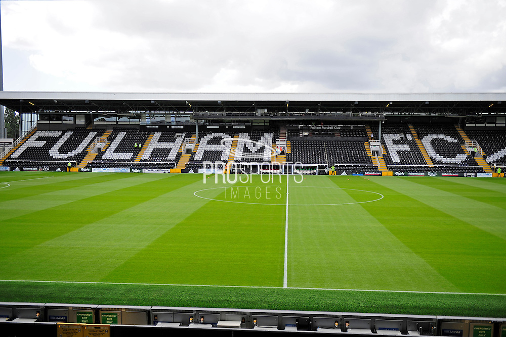 Craven Cottage before the EFL Sky Bet Championship match between Fulham and Cardiff City at Craven Cottage, London, England on 20 August 2016. Photo by Jon Bromley.