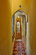 Hallway and rugs, Cairo, Egypt