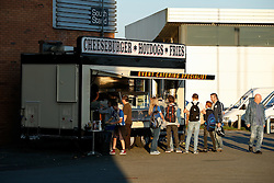 Fans get food before the game outside the DW stadium - Photo mandatory by-line: Rogan Thomson/JMP - 07966 386802 - 22/09/2014 - SPORT - FOOTBALL - Wigan, England - DW Stadium - Wigan Athletic v Ipswich Town - Sky Bet Championship.