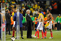 FOOTBALL - FIFA WORLD CUP 2010 - GROUP STAGE - GROUP A - FRANCE v SOUTH AFRICA - 22/06/2010 - PHOTO GUY JEFFROY / DPPI - RAYMOND DOMENECH (FRANCE COACH) / FRANCK RIBERY (FRA)