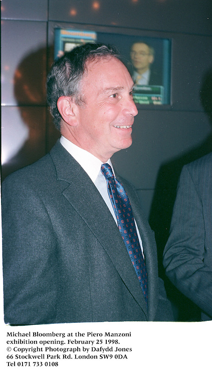 Michael Bloomberg at the Piero Manzoni exhibition opening. February 25 1998.<br />