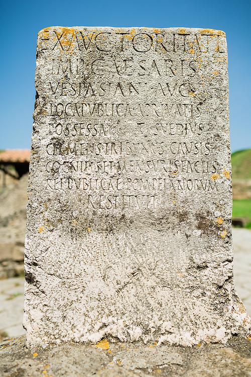 Boundary stone (cippus), Cippus of Titus Suedius Clemens - Pompeii, Italy 2014