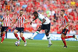 DUBLIN, REPUBLIC OF IRELAND - Saturday, August 5, 2017: Liverpool's Divock Origi looks misses a chance against during a preseason friendly match between Athletic Club Bilbao and Liverpool at the Aviva Stadium. (Pic by David Rawcliffe/Propaganda)