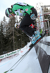 Sasa Faric of Slovenia at FIS World Cup Ski cross race, on December 21, 2009 in Innichen / San Candido, Italy. (Photo by Grega Stopar)