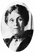 Mrs Emmeline Pankhurst (1857-1928) English suffragette