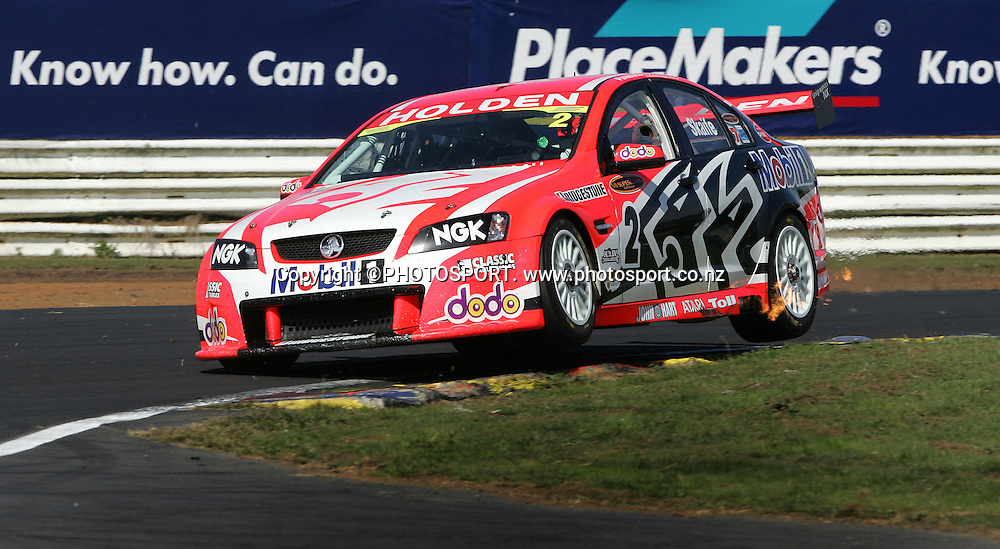 Holden Racing Teams Mark Skaife in action during Race 2 at the Placemaker V8 Supercars in Pukekohe, New Zealand, on Sunday 22 April 2007. Toll HSV Dealer Team's Garth Tanner won race 2. Photo: Michael Bradley/PHOTOSPORT