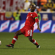 Julian DeGuzman, Canada, in action during the Colombia Vs Canada friendly international football match at Red Bull Arena, Harrison, New Jersey. USA. 14th October 2014. Photo Tim Clayton