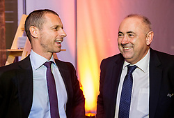 Aleksander Ceferin, president of UEFA and Radenko Mijatovic, president of NZS during Traditional New Year party of of the Slovenian Football Association - NZS, on December 20, 2018 in Gospodarsko razstavisce, Ljubljana, Slovenia. Photo by Vid Ponikvar / Sportida