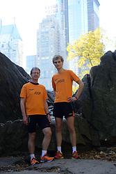 02-11-2013 ALGEMEEN: BVDGF NY MARATHON: NEW YORK <br /> Parcours verkenning en laatste training in het Central Park / Joop en Ewoud<br /> ©2013-FotoHoogendoorn.nl