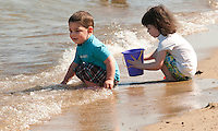 """A great day to """"beat the heat""""  and enjoy the lake at Ellacoya State Beach Friday, July 22, 2011."""