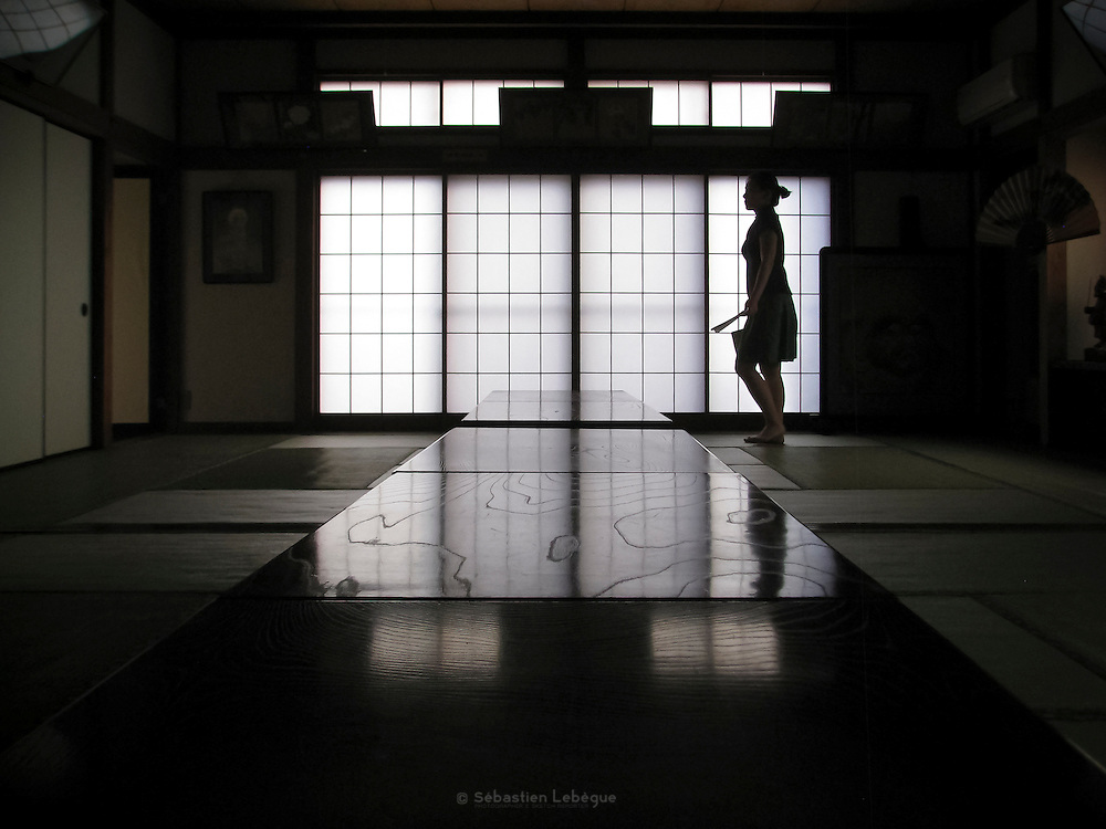 KAMAKURA, JAPAN - A tatami room with the typical soji window.