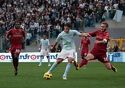 Roma, 07-11-2010 ITALY - Italian Soccer Championship Day 10 -  Lazio - Roma..Photo by Giovanni Marino/OTNPhotos . Obligatory Credit