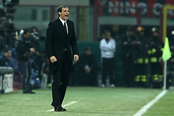 23.11.2011, Giuseppe Meazza Stadion, Mailand, ITA, UEFA CL, Gruppe H, AC Mailand (ITA) vs FC Barcelona (ESP), im Bild Massimiliano Allegri Milan // during the football match of UEFA Champions league, group H, between Gruppe H, AC Mailand (ITA) and FC Barcelona (ESP) at Giuseppe Meazza Stadium, Milan, Italy on 2011/11/23. EXPA Pictures © 2011, PhotoCredit: EXPA/ Insidefoto/ Paolo Nucci..***** ATTENTION - for AUT, SLO, CRO, SRB, SUI and SWE only *****