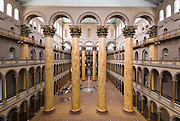 Interior view of Corinthium columns inside the National Building Museum, Washington, DC