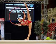Nina Corradini from  Flaminio team during the Italian Rhythmic Gymnastics Championship in Padova, 25 November 2017.