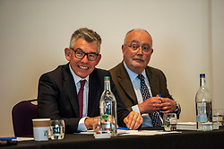Pictured: Amngus Armstrong and Professor Ronald McDonald<br />Gordon Brown addressed thenew Scottish think tank seminar today.  He was joined by Shadow Scottish secretary Lesley Laird and Scottish Labour leader Richard Leonard who also spoke at the inaugural meeting of Our Scottish Future<br /><br />Ger Harley | EEm 30 August 2019