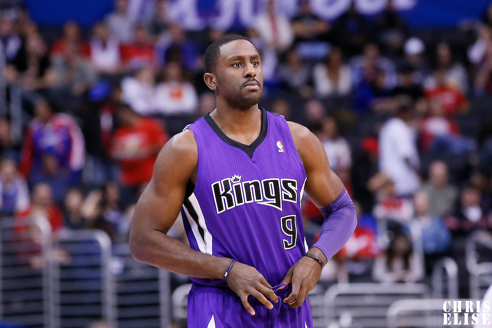 23 November 2013: Sacramento Kings power forward Patrick Patterson (9) is seen during the Los Angeles Clippers 103-102 victory over the Sacramento Kings at the Staples Center, Los Angeles, California, USA.