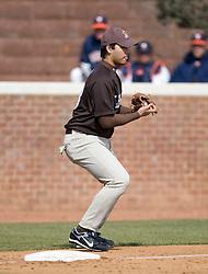 Lehigh infielder Austin Borden.  The #17 ranked Virginia Cavaliers baseball team defeated the Lehigh Mountain Hawks 12-1 at the University of Virginia's Davenport Field in Charlottesville, VA on February 24, 2008.