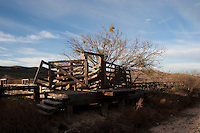 Corral and loading chute, Terrell County, Texas.