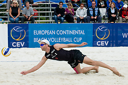 Tarjei Skarlund of Norway at CEV European Continental Beach Volleyball Cup for Olympic Qualification, on September 5, 2010, in Zrece, Slovenia. (Photo by Matic Klansek Velej / Sportida)