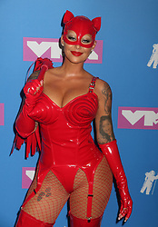 August 20, 2018 - New York City, New York, U.S. - Model AMBER ROSE attends the arrivals for the 2018 MTV 'VMAS' held at Radio City Music Hall. (Credit Image: © Nancy Kaszerman via ZUMA Wire)