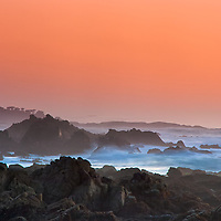 Sunset on 17 mile drive near Monterey, California.