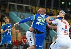 Matej Gaber of Slovenia during friendly handball match between Slovenia and Srbija, on October 27th, 2019 in Športna dvorana Lukna, Maribor, Slovenia. Photo by Milos Vujinovic / Sportida