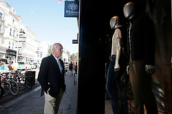 UK ENGLAND BRIGHTON 8SEP16 - Terry Webb (78) of  Brighton during some window-shopping in Brighton town centre.<br /> <br /> jre/Photo by Jiri Rezac<br /> <br /> © Jiri Rezac 2016
