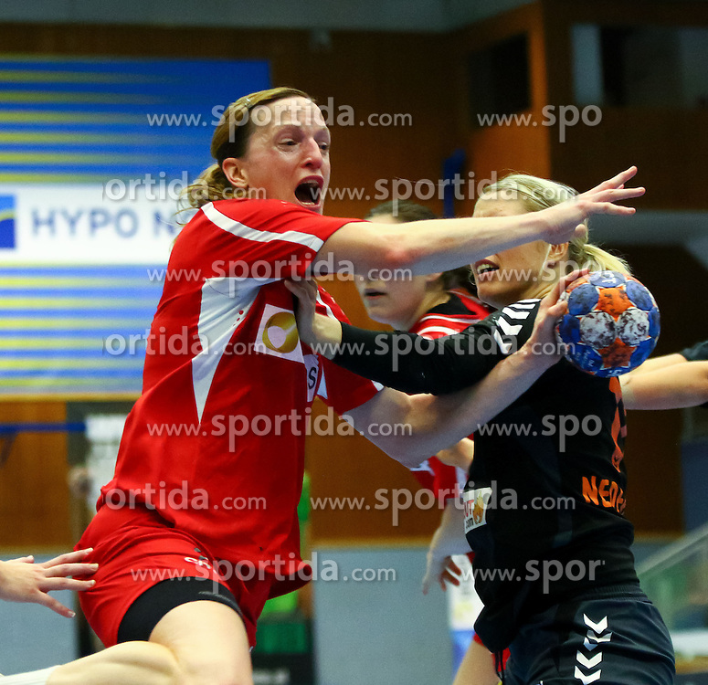 11.10.2015, BSFZ Südstadt, Maria Enzersdorf, AUT, EHF Euro 2016 der Frauen, Österreich vs Niederlande, Qualifikation, im Bild Katrin Engel (AUT)// during Women's EHF Euro 2016 qualifier match between Austria and the Netherlands at the BSFZ Südstadt, Maria Enzersdorf, Austria on 2015/10/11, EXPA Pictures © 2015, PhotoCredit: EXPA/ Sebastian Pucher