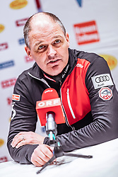 19.02.2019, Seefeld, AUT, FIS Weltmeisterschaften Ski Nordisch, Seefeld 2019, Langlauf, Pressekonferenz, im Bild Markus Gandler (AUT, Sportlicher Leiter Langlauf und Biathlon) // Markus Gandler of Austria (Sports Director Cross Country and Biathlon) during a press conference for the Austian Cross Country Team before the FIS Nordic Ski World Championships 2019. Seefeld, Austria on 2019/02/19. EXPA Pictures © 2019, PhotoCredit: EXPA/ JFK