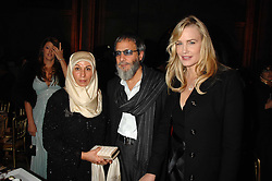 Left to right, MR & MRS YUSUF ISLAM he is formerly known as Cat Stevens and DARYL HANNAH at the 2nd Fortune Forum Summit and Gala Dinner held at the Royal Courts of Justice, The Strand, London on 30th November 2007.<br />