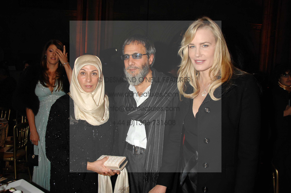 Left to right, MR & MRS YUSUF ISLAM he is formerly known as Cat Stevens and DARYL HANNAH at the 2nd Fortune Forum Summit and Gala Dinner held at the Royal Courts of Justice, The Strand, London on 30th November 2007.<br /><br />NON EXCLUSIVE - WORLD RIGHTS