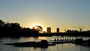 "Boston,  USA  ."" 2012 Head of the Charles"".  ..Description. Sunrise, over Anderson road Bridge  Boston City Scape  Charles River. Cambridge,  Massachusetts,..Thursday  18/10/2012...[Mandatory Credit: Peter Spurrier/Intersport Images]"