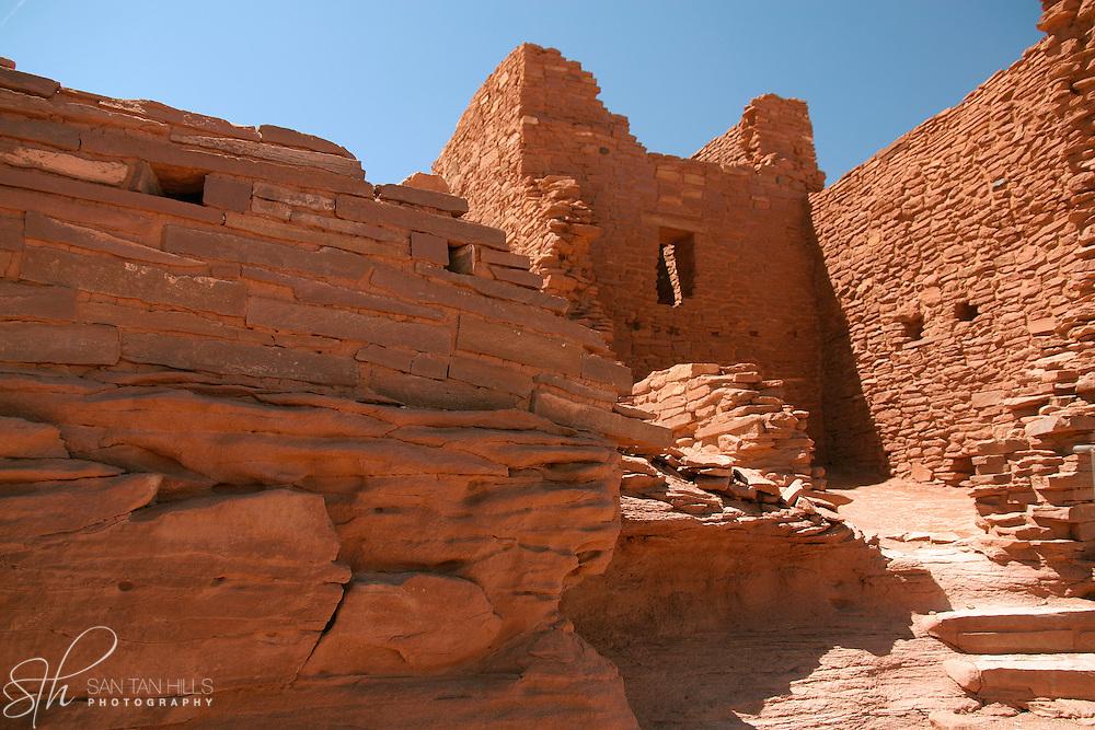 Entrance into Wukoki Pueblo Ruins - Wupatki National Monument, AZ