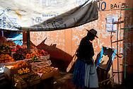Puna market, Puna on Lake Titicaca, Peru