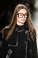 A model walks the runway wearing Custo Barcelona Fall 2016 20th Anniversary Collection during New York Fashion Week on February 14, 2016