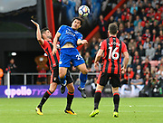 Shinji Okazaki (20) of Leicester City battles for possession with Andrew Surman (6) of AFC Bournemouth during the Premier League match between Bournemouth and Leicester City at the Vitality Stadium, Bournemouth, England on 30 September 2017. Photo by Graham Hunt.