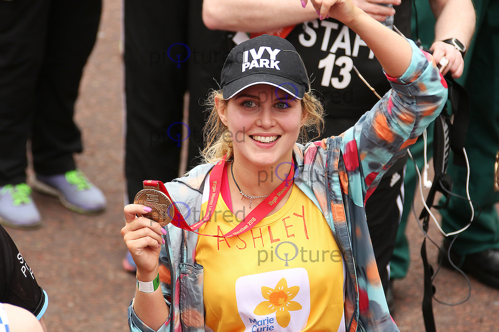 Ashley James, Virgin Money London Marathon, London UK, 24 April 2016, Photo by Brett D. Cove