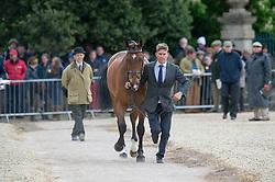 Crisp Tom, (GBR), Coolys Luxury<br /> First Horse Inspection - Mitsubishi Motors Badminton Horse Trials <br /> Badminton 2015