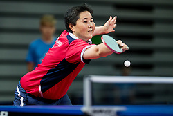 Kamkasomphou Thu of France plays final match during Day 4 of SPINT 2018 - World Para Table Tennis Championships, on October 20, 2018, in Arena Zlatorog, Celje, Slovenia. Photo by Vid Ponikvar / Sportida