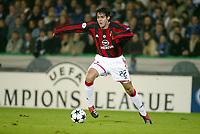 Fotball, 4. november 2003, Champions League,, Club Brugge ( Brügge )-Milan 0-1, Kaka Ricardo Izecon, Milan (Kaká)
