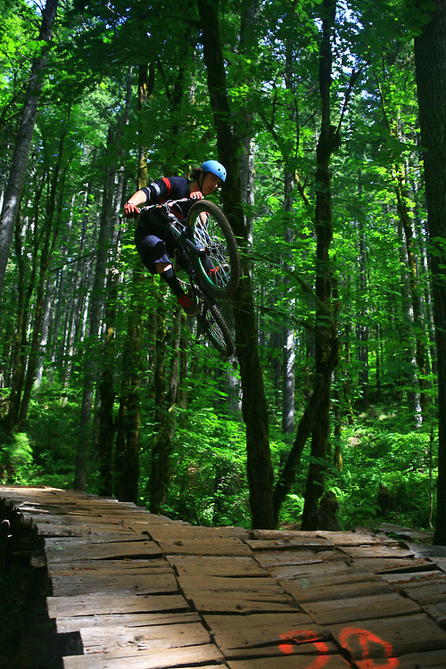 mountain bike races and freeriding