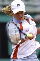 Tennis. French Open. Roland Garros, Paris. 29.05.2002.<br />Kim Clijsters fra Belgia.<br />Foto: Franck Faugere, Digitalsport